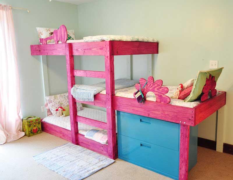 تخت خواب سه طبقه کودک