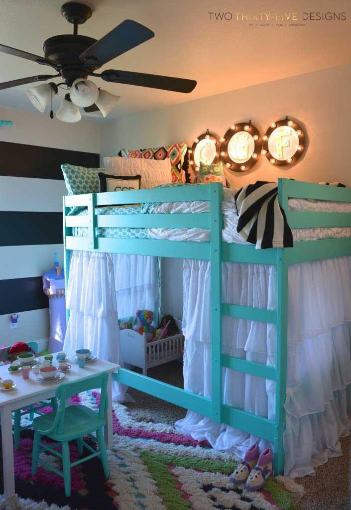 تخت خواب دو طبقه دخترانه