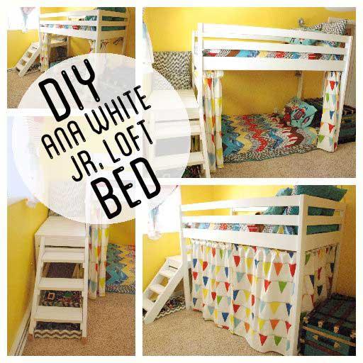 تخت خواب دو طبقه کودک با پلکان
