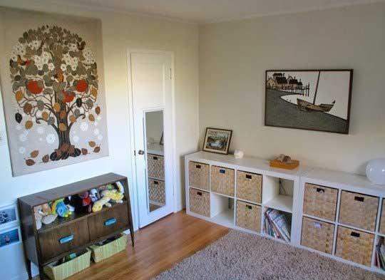 طراحی برای اتاق خواب کوچک کودک