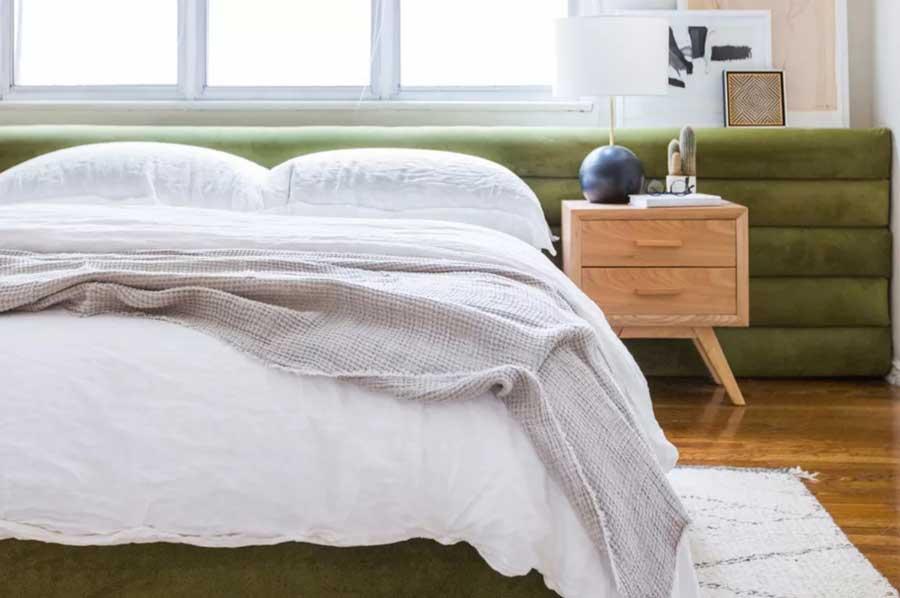 تاج تخت خواب پارچه ای